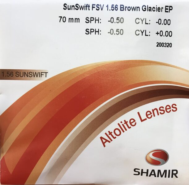 Очковая линза Shamir SunSwift FSV Brown Graicer EP